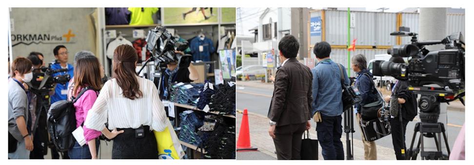 名古屋中川法華店でのマスコミ内覧会の様子