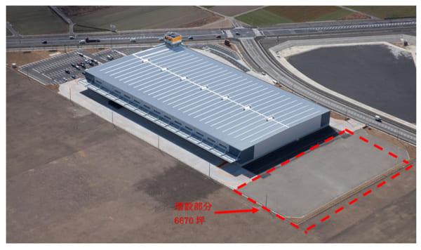 伊勢崎流通センター増設後の外観図2