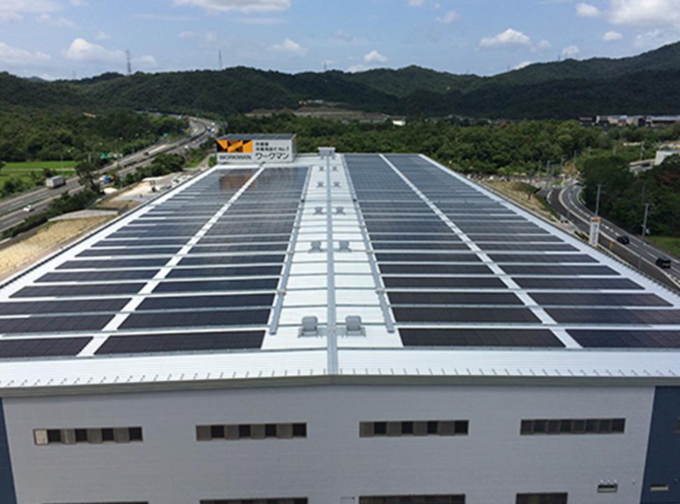 再生可能でクリーンな太陽光発電を行います