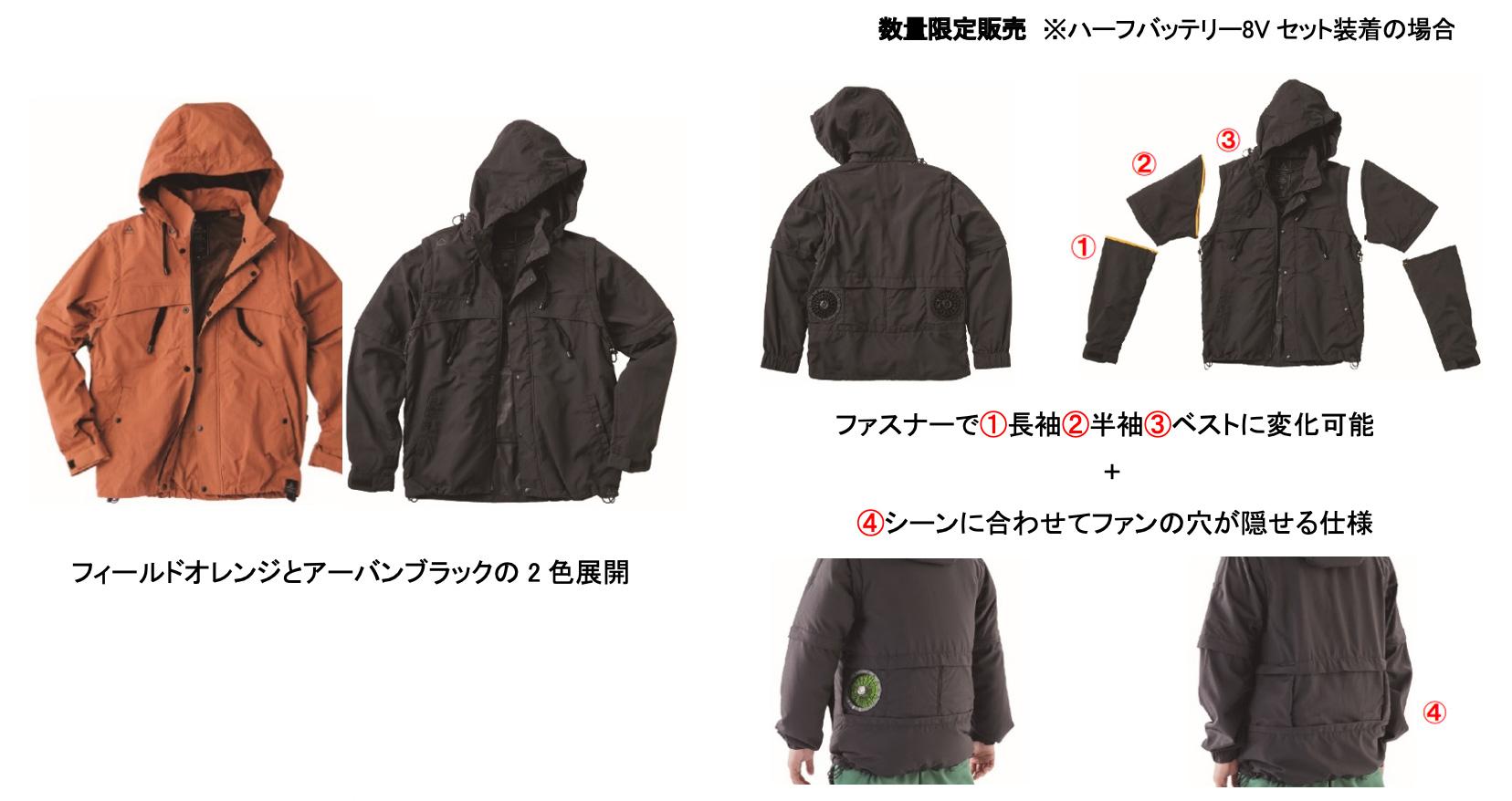 第4位 WZ1800アーバンアウトドア4WAYジャケット 税込4,900円 ファン・バッテリー合わせて税込13,700円