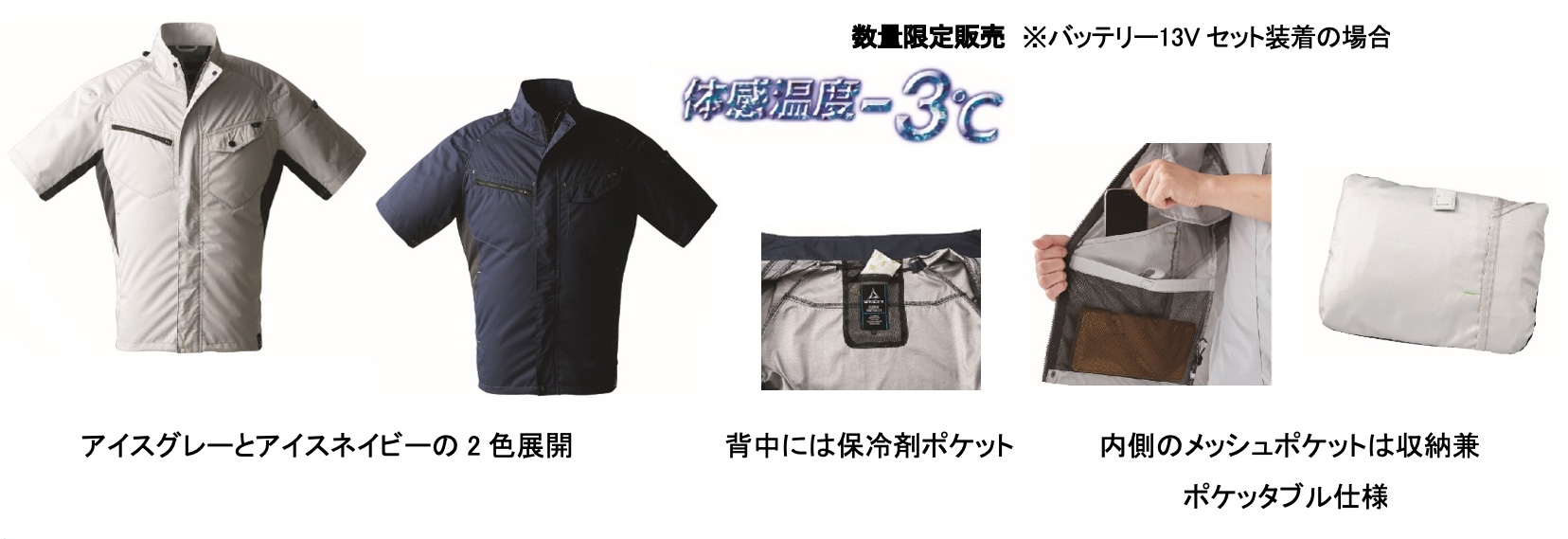第5位 WZ1600遮熱半袖ジャンパー  税込3,900円  ファン・バッテリー合わせて税込15,780円