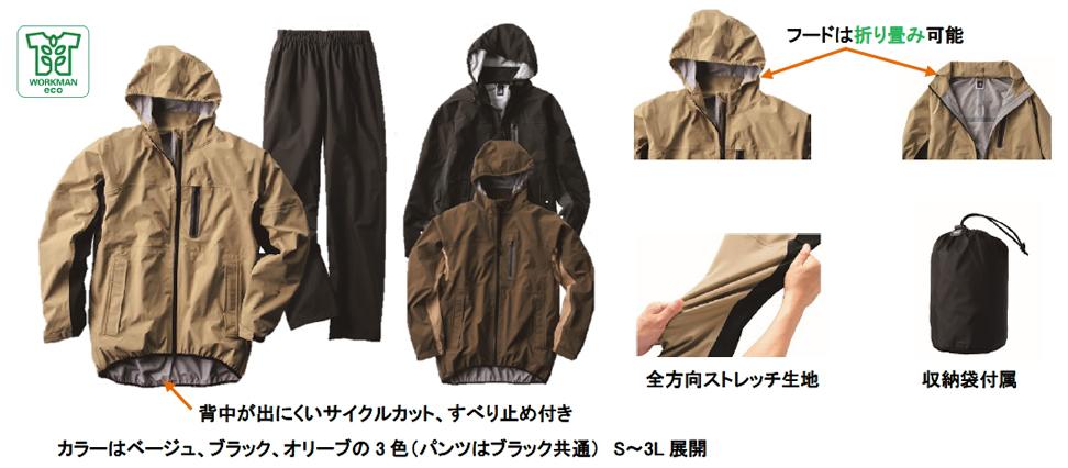 INAREMストレッチレインスーツ 税込4,900円